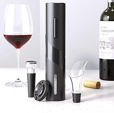 croselyu Sacacorchos de vino eléctrico vino automático Sacacorchos Bar Cocina Herramienta de vino Sacacorchos Set inalámbrico automático Sacacorchos combinación (style1, célula seca