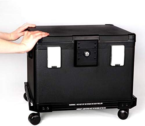 パーツボックス ローラーデザインホームのベッドルームコレクション小金庫キー+ダブルポートロックジュエリーウォッチストレージキャビネットギフトセーフ (Color : Black, Size : 50.7*43.6*34.6cm)