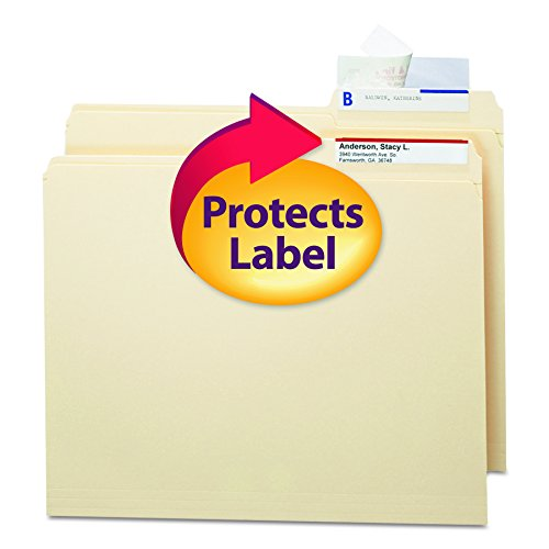 Smead 67600 Seal & View File Folder Label Protector, Clear Laminate, 3-1/2x1-11/16 (Pack of 100)
