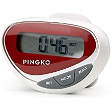 PINGKO LCD Display Outdoor Step Distance Calorie Counter Walking Fitness Multifuctional Sports Pedometer
