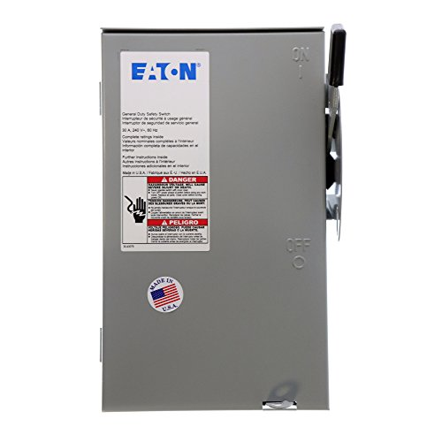 Eaton Cutler-Hammer DG321NRB Fusible Safety Switch, NEMA-3R, 30A, 240V, 4-Wire (Eaton Online-shop)