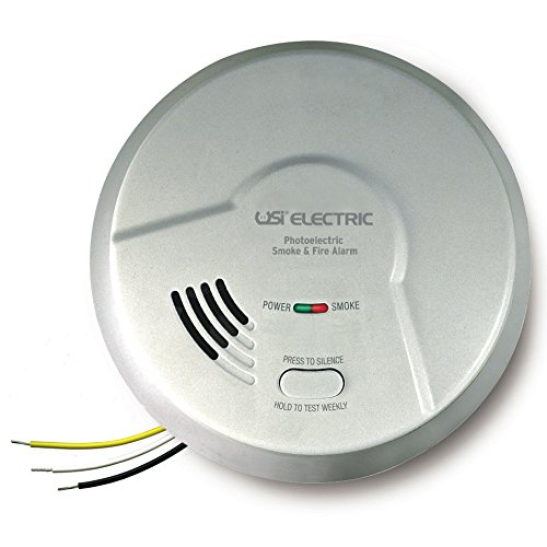 USI Electric MP116S Photoelectric Smoke and Fire Smart Alarm with 10-Year Sealed Battery