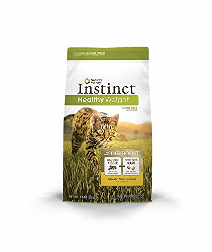 Instinct Raw Boost Grain Free Chicken Meal Natural Dry Cat Food by Nature's Variety, 5.1 lb. Bag