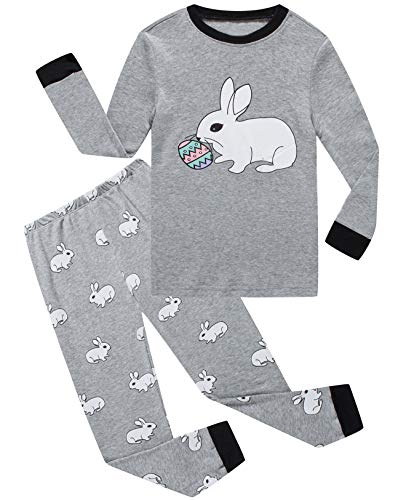 Dolphin&Fish Boys Pajamas Little Kids Easter Rabbit Pjs Sets 100% Cotton Toddler Sleepwears Size 5