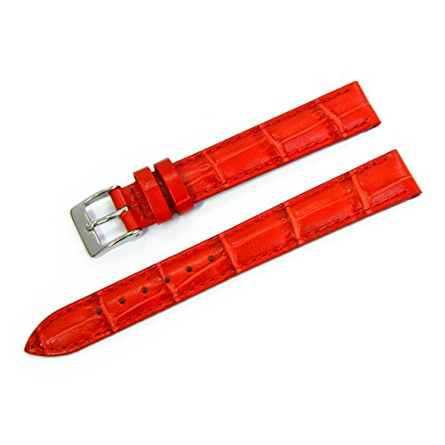 CASSIS Donna Croco Calf Genuine Alligator Embossed Calf Leather 13mm RED with Tool D0000312083013M