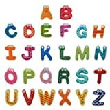 1set Wooden Fridge Magnet Gift A-z 26 Letters Big Size Magnet Education Learn Cute Kid Baby Toy