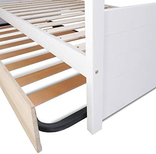 Cama nido 80 x 190 – Madera maciza natural blanco madera