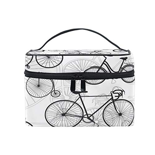 Travel Cosmetic Bag Bicycle Bike Print Toiletry Makeup Bag Pouch Tote Case Organizer Storage For Women Girls (Tote Bicycle)