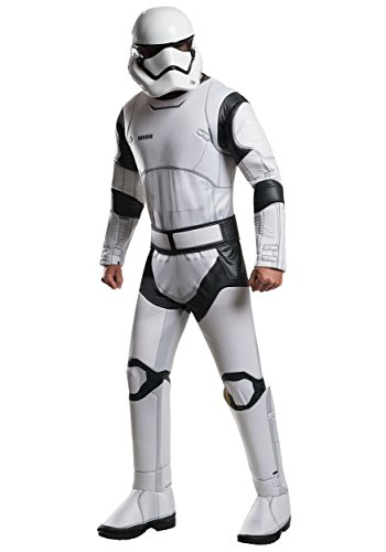 Adult Villain Costumes (Star Wars: The Force Awakens Deluxe Adult Stormtrooper Costume, Multi, Standard)