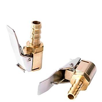 ETbotu 6/mm//8/mm Gonfiatore valvola Aria connettore Veicolo Auto Camion Pneumatico Air Pump Chuck Clip