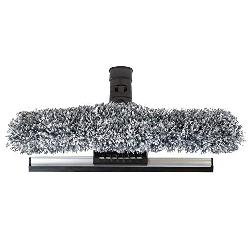 "SWOPT 12"" Combination Squeegee Head – Squeegee Blade with Detachable Microfiber Scrubbing Pad, Ideal for Cleaning Windows and Glass Surfaces – Interchangeable with Other SWOPT Products for More Efficient Cleaning and Storage, Head Only, Handle Sold Separa"