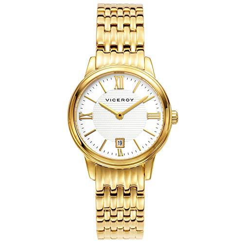 Reloj Dorado Viceroy Mujer Sumergible 30 Metros 47832-23- Clásico y Elegante. Viceroy Dorado.: Amazon.es: Relojes