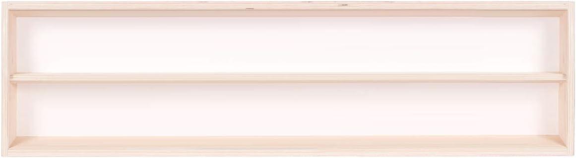 2 Ante plexiglass scorrevoli Collezionismo in Legno di Betulla Non trattato Scala N e H0 Modellismo 90 x 11 x 8,5 cm Alsino V90.1 Vetrina espositiva 1 ripiano