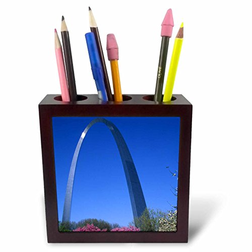 nt - Cities - Jefferson National Expansion Memorial, The Arch, St. Louis, Missouri - 5 inch tile pen holder (ph_259555_1) (Louis Tile)