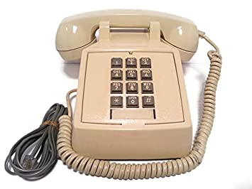 Vintage Authentic 80s BELL Push Button Telephone (Beige)