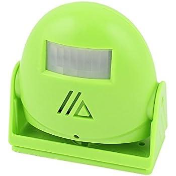 eDealMax Infrarrojos IR Detección de bienvenida de alarma inteligente de felicitación del Timbre de la puerta Verde