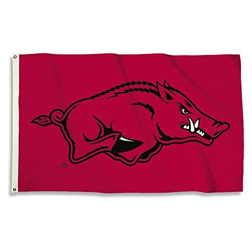 NCAA Arkansas Razorbacks 3 X 5 Foot Flag with Grommets, Crimson, ()