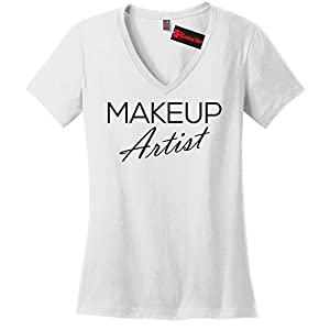 Comical Shirt Ladies Makeup Artist V-Neck Tee