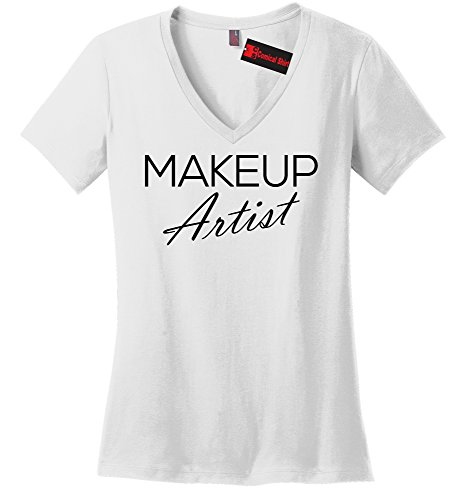 Comical Shirt Ladies Makeup Artist V-Neck Tee