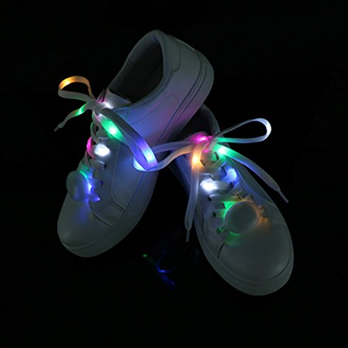 Uidea Waterproof Colorful Flashing Light up LED Shoelaces