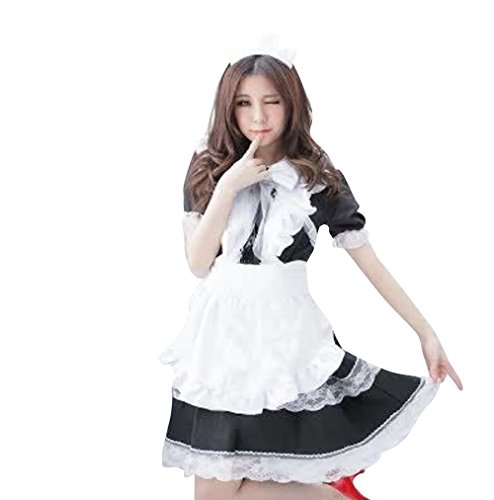 Akb48 Costume For Sale (K-shop Women's Japanese Anime Cosplay French Apron Maid Costume (XL))