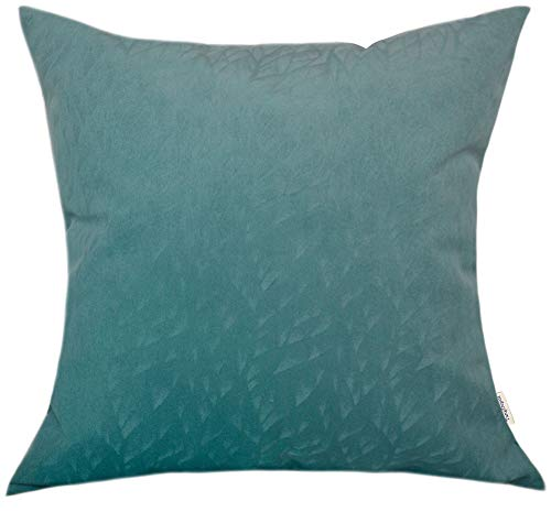 TangDepot Solid Velvet Decorative Pillow Covers/Euro Pillow Shams, Super Soft Velour, Micro Embossed Leaf Texture and Shape,Indoor/Outdoor Pillowcase,Cushion Cover - (14
