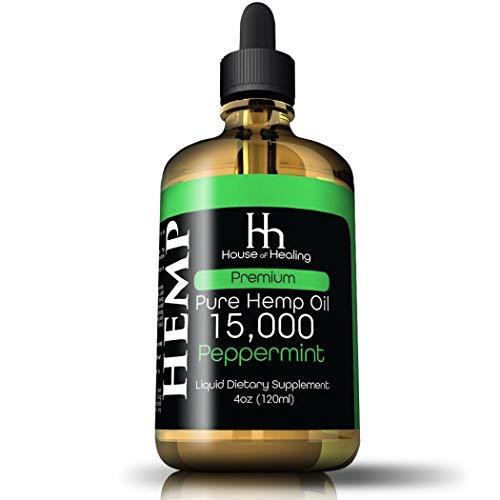 Hemp Oil for Pain Anxiety Relief :: Hemp 15,000mg :: Hemp Extract :: May Help with Inflammation, Joints, Mood, Sleep…