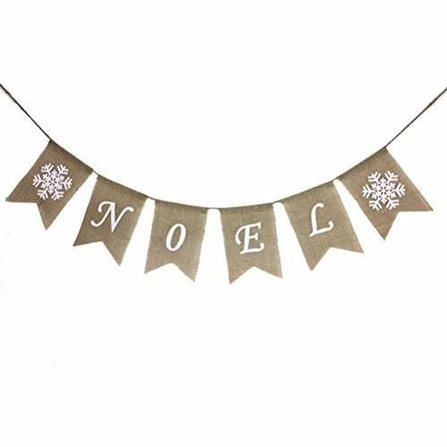 Merry Christmas Banners NOEL Printed Bunting Garlands Party Banner XMAS Party Home Decoration (NOEL) (Noel Christmas Decorations)