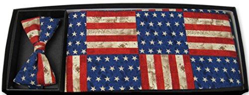 American-Rustic-Bow-Tie-and-Cummerbund-Set