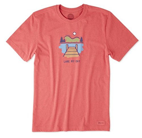 Life is Good Mens Graphic T-Shirts Crusher Collection,Lake Day,Americana Red,Large from Life is Good