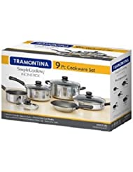 Tramontina 9-Piece Simple Cooking Nonstick Cookware Set (Polished)