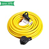 TREKPOWER RV Extension Cord (30A 25FT Powe Cabler) with Heavy Duty Easy Grip Handles for Outdoor Use,SJTW(3/C 10 AWG) (TT-30P) to (TT-30R)