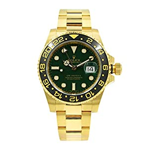 Best Epic Trends 41IV9cPbqxL._SS300_ Rolex GMT Master II 'Anniversary Green' Yellow Gold Automatic Watch 116718LN