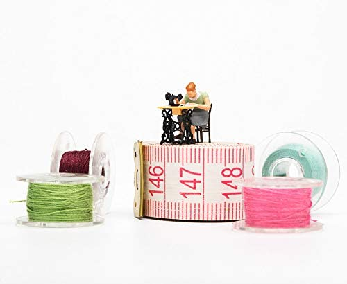 12Pieces Transparent Plastic Sewing Machine Bobbins with Storage Case for Brother Janome Singer Elna Sewing Machine