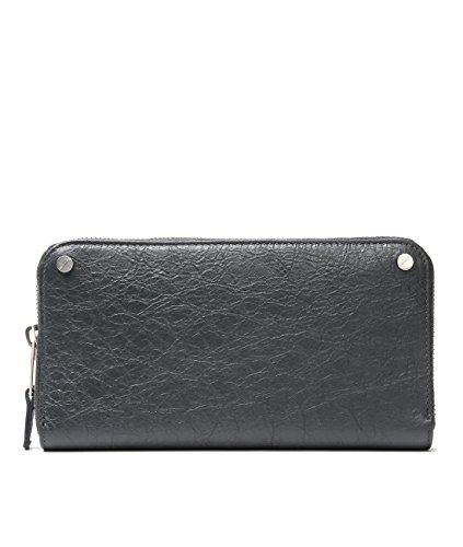 Wiberlux Balenciaga Women's Rivet Detailed Zip-Around Real Leather Wallet