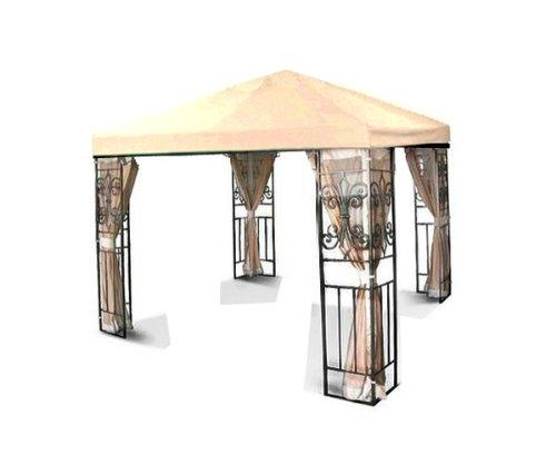 10'x10' Replacement Gazebo Canopy Top Cover Outdoor Green Beige Ivory Garden Patio (Beige)