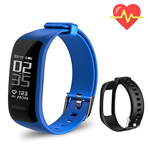 er HR, Activity Tracker Watch with Heart Rate Monitor, Waterproof Smart Fitness Band with Step Counter, Calorie Counter, Pedometer Watch for Kids Women and Men ()