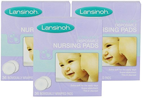 LAN20250EA - Disposable Nursing Pad, Ultra Soft (2 pack of 36 Count)