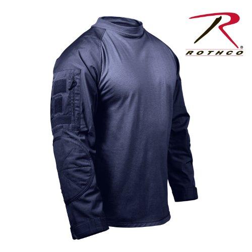 Rothco Military Combat Shirt, Navy Blue, Large