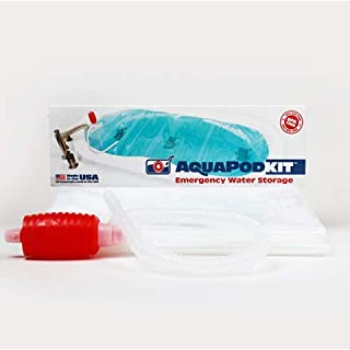 product image for AquaPod Kit 2.0 - (Box) BPA free and Made in USA! Emergency Water Storage Container, Hurricane Survival (65 gallons of water – some larger or garden tubs can hold up to 100 gallons of water)