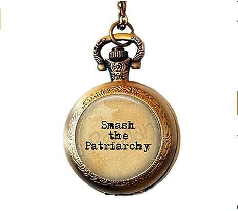 Smash The Patriarchy Collar con colgante – Misandry – Tears para hombre – Feminismo – joyería feminista – Woman Power – Feminismo reloj de bolsillo collar: Amazon.es: Juguetes y juegos