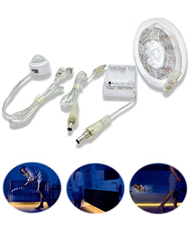 Motion Activated Bed Light Strip, BT 1.5M Battery Operate...