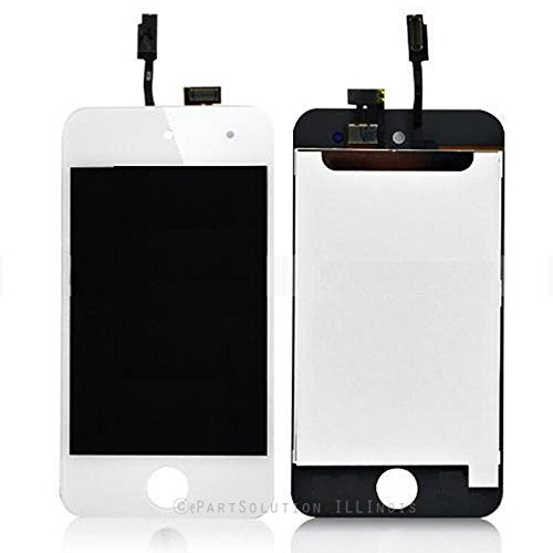 ePartSolution_iPod Touch 4th Generation LCD Display Touch Screen Digitizer Assembly Replacement Part USA Seller (White) (Ipod 4th Replacement Screen White)
