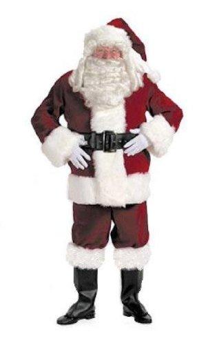 Halco 7096 Deluxe Velvet Santa Suit XL (Velvet Santa Suit Costume)