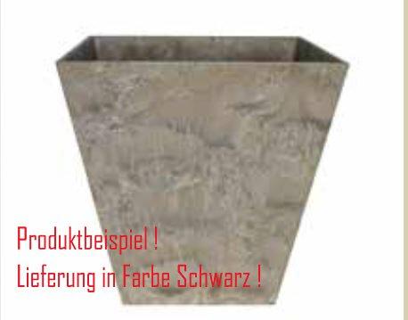 Blumenübertopf Artstone Ella Pot aus Kunststoff, sonnen-und regenbeständig für Innen und Außen, Farbe Schwarz 45x45x45cm
