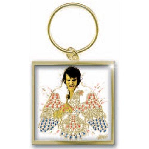 - Elvis Presley American Eagle Photo Print Key Chain