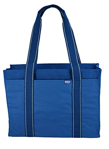 Poly Zipper Tote Bag - Royal (Blue Tote)