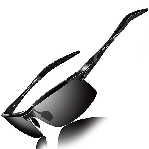 63124d7850 COSVER Men s Sports Style Polarized Sunglasses for Men Driving Cycling  Running Fishing Golf Unbreakable Frame Metal