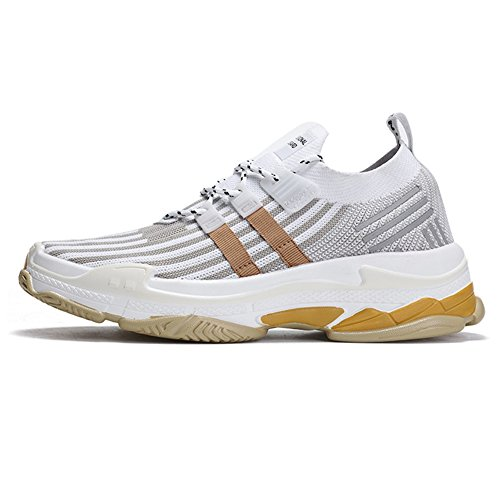Chaussures Chaussures Jogger Léger Sneakers TUOKING Chaussures Blanc Marche Durable Mode Course Chaussures Chaussette de Hommes Respirant de vqqTAx6X
