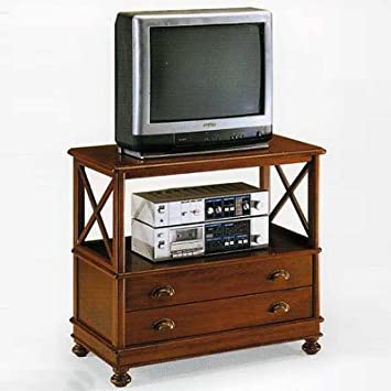 Fabulous Wooden Tv Table Cm 78X45 H 71 Classic Style Made In Download Free Architecture Designs Grimeyleaguecom
